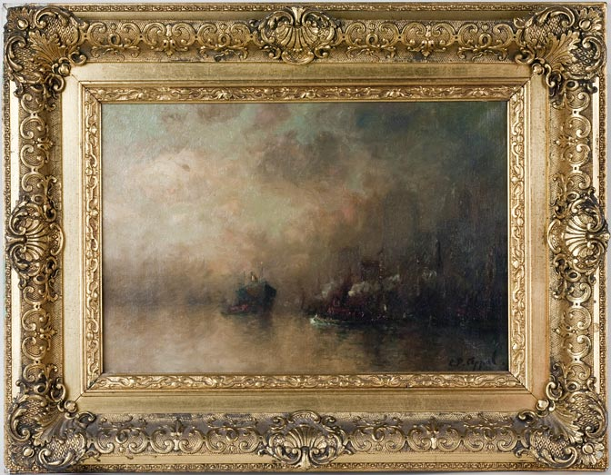 Best   Although A Bit Out Of My Collecting Category, This Is A Superb,  Gilded Gesso Frame With Its Original Charles Appel Oil Painting Of Lower  Manhattan ...