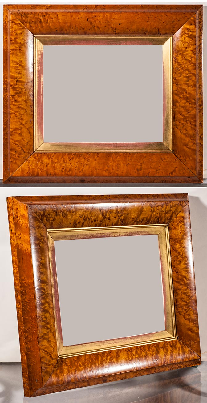 Frame museum page 1 it has depth the finest birdseye maple and is in superb condition it is 17 x 19 outside and 9 78 x 11 78 inside jeuxipadfo Gallery