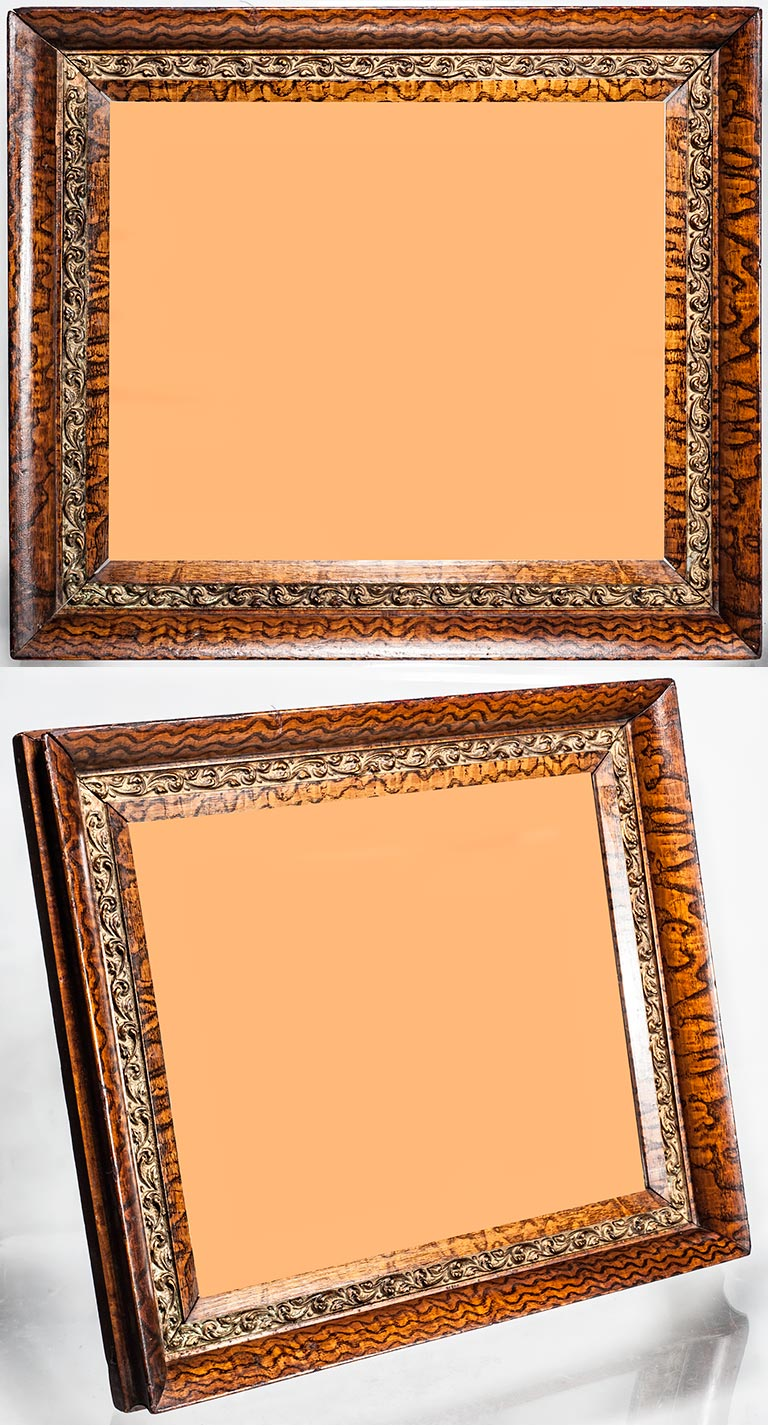 Frame museum page 6c a very unusual and beautiful by the 1870s hand decorated faux bois was considered too much work ca1870 hand decorated faux bois piece with a gilded jeuxipadfo Images