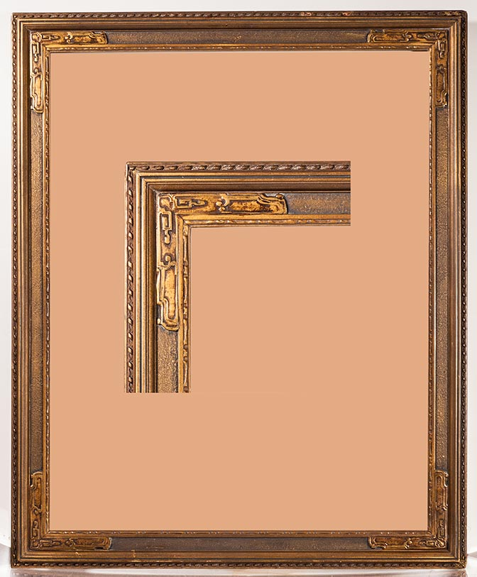better a superb gilded arts crafts style frame from around 1910 it is 17 12 x 21 with a image size of 15 x 19
