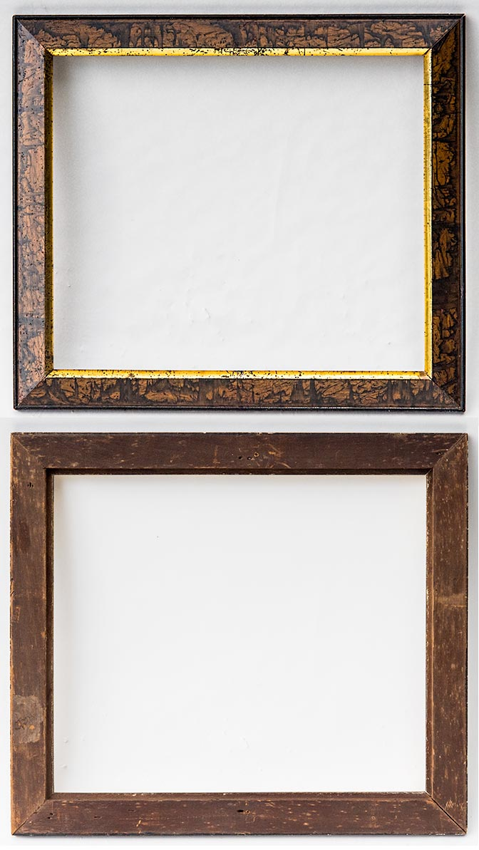 Frame museum page 6b 1880 faux bois piece with a gilded sight it is 14 34 x 16 34 inches od and has a 12 x 14 inch pic size 17 517 8000 or the pair for 15000 jeuxipadfo Gallery